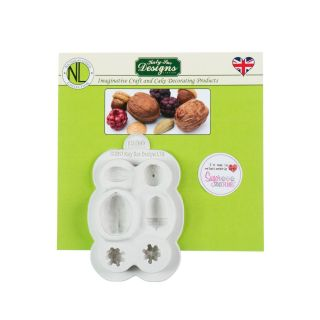 Katy Sue Nicholas Lodge Silicone Mould NUTS AND BERRIES