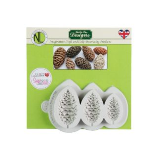 Katy Sue Nicholas Lodge Silicone Mould PINE CONES