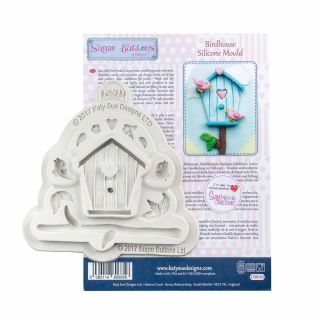 Katy Sue Sugar Buttons Silicone Mould BIRDHOUSE