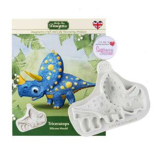 Katy Sue Silicone Mould TRICERATOPS