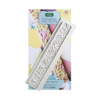 Katy Sue Creative Cake System Silicone Mould BUTTON BORDER