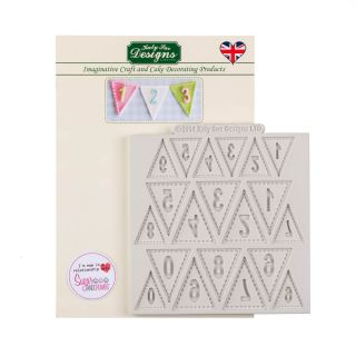 Katy Sue Silicone Mould BUNTING NUMBERS