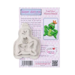 Katy Sue Sugar Buttons Silicone Mould FROG PRINCE
