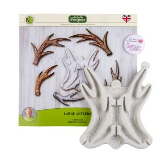 Katy Sue Silicone Mould LARGE ANTLERS