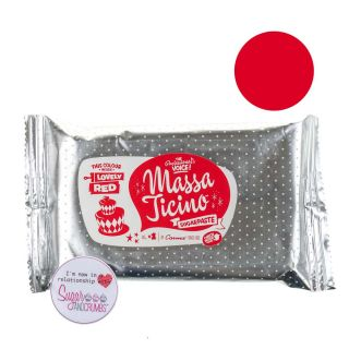 Massa Ticino Sugarpaste LOVELY RED 250g