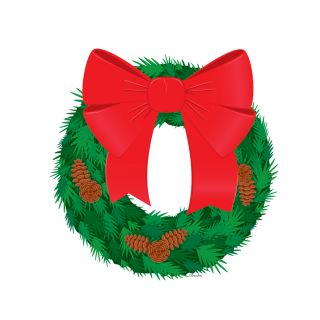PhotoCake Round CHRISTMAS WREATH