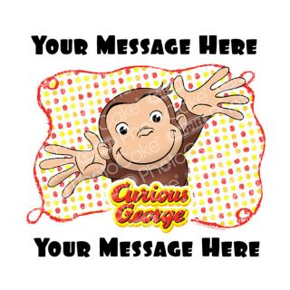 PhotoCake Personalised Image Curious George Let's Celebrate