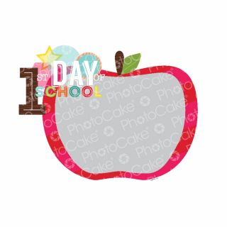 PhotoCake A4 Personalised First Day of School Red