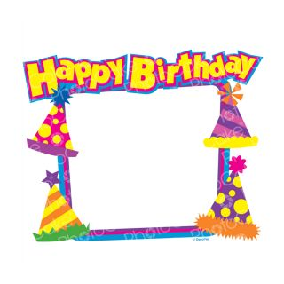 PhotoCake Personalised A4 Happy Birthday Party Hats