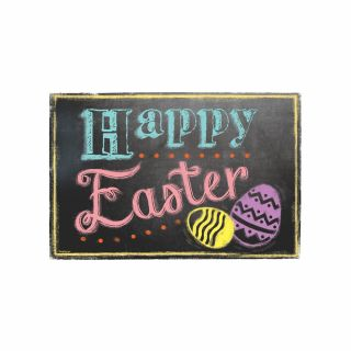 PhotoCake A4 Happy Easter Bright Chalkboard