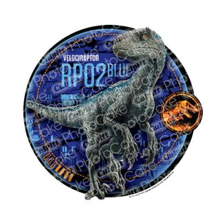 PhotoCake Round Jurassic world - Blue