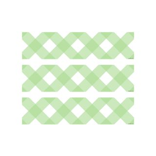 PhotoCake Strips MINT GREEN GINGHAM