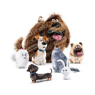 PhotoCake A4 Image secret life of pets - Metropolitan pets