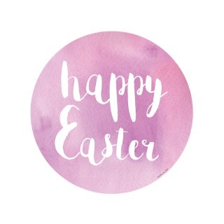 PhotoCake Round WATERCOLOUR HAPPY EASTER