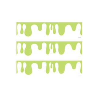 PhotoCake Strips GREEN DRIP