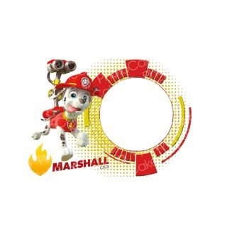 PhotoCake A4 Personalised Image Paw patrol Marshall