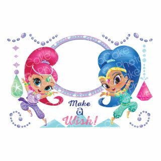 PhotoCake A4 Personalised Shimmer and Shine - Gem and Jewels