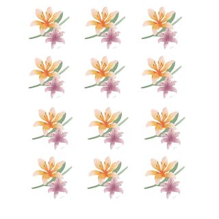 PhotoCake Round WATERCOLOUR EASTER LILY