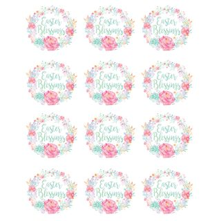 PhotoCake Round FLORAL EASTER BLESSING