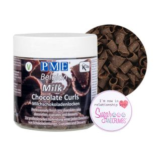 PME Belgian Chocolate Curls MILK 85g