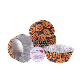 PME Cupcake Cases Foil Lined PETRIFYING PUMPKIN Pack of 30