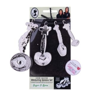 Queen of Hearts Measuring Spoon Set SUGAR and SPICE