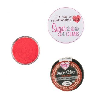 Rainbow Dust Matt Powder Colour CHILLI RED