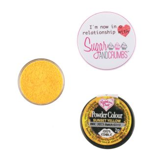 Rainbow Dust Matt Powder Colour SUNSET YELLOW