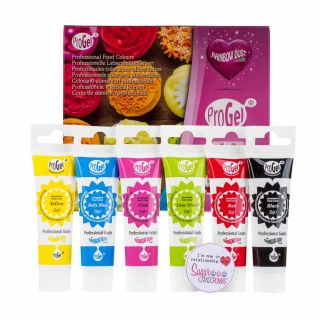 Rainbow Dust ProGel® Concentrated Food Colour MULTI PACK of 6 25g