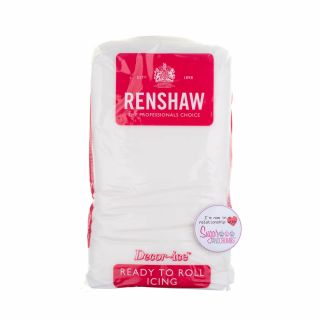 Renshaw Sugarpaste Ready to Roll WHITE 1Kg