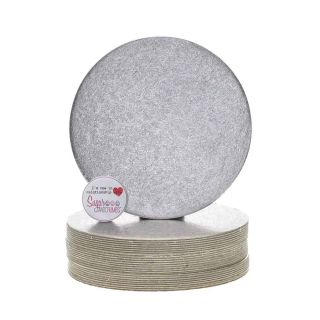 Cake Card Cut Edge ROUND 06 Inch Pack of 25