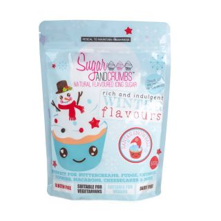 Sugar and Crumbs Natural Flavoured Icing Sugar SANTA'S SNOWBALL (GINGER AND WHITE CHOCOLATE) 500g