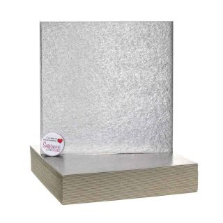 Cake Card Cut Edge SQUARE 08 Inch Pack of 25