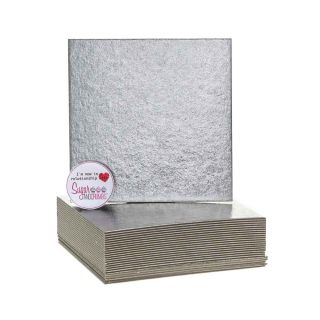 Cake Card Cut Edge SQUARE 05 Inch Pack of 25