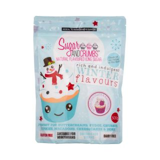Sugar and Crumbs Natural Flavoured Icing Sugar WHITE CHOCOLATE AND RASPBERRY 500g