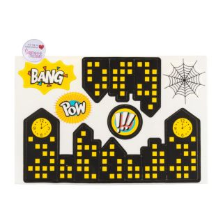 SugArt CutOut Plaque Bang Pow City