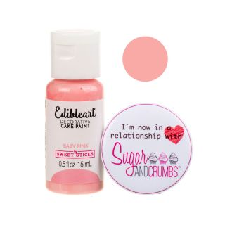 Sweet Sticks Edible Art Paint BABY PINK 15ml