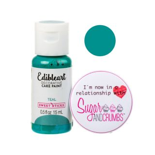 Sweet Sticks Edible Art Paint TEAL 15ml