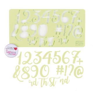 Sweet Stamp CURLY Numbers