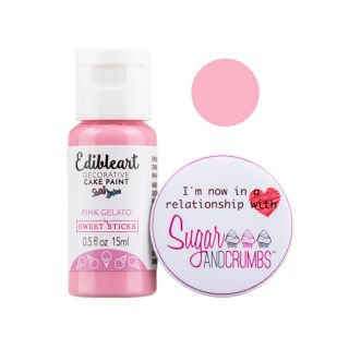 Sweet Sticks Edible Art Paint PINK GELATO 15ml