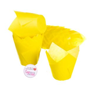 Tulip Muffin Wraps YELLOW Pack of 50
