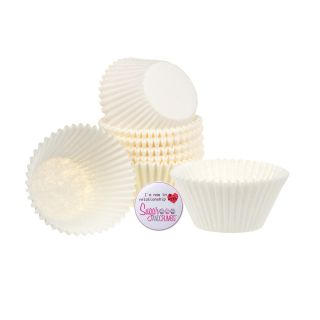 Cupcake Cases LARGE WHITE Pack of 100
