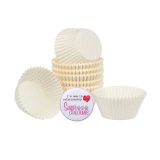 Cupcake Cases MINI WHITE Pack of 100