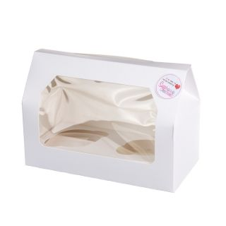 Cupcake Window Box WHITE Fits 2