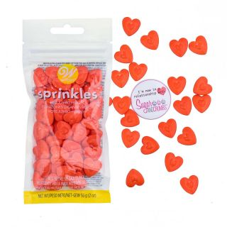 Wilton Sprinkles JUMBO RED HEARTS 56g
