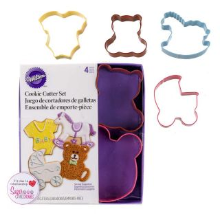 Wilton Cookie Cutter BABY THEME Set of 4