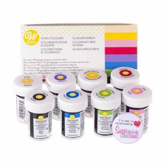 Wilton Icing Colour Gels x 8