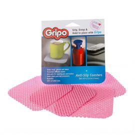 Gripo Anti Slip Coaster Mats BABY PINK Pack of 4