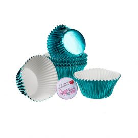 CULPITT Baking Cases Foil ICE BLUE Pack of 45