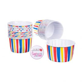 Culpitt Baking Cups MULTI STRIPED Pack of 24